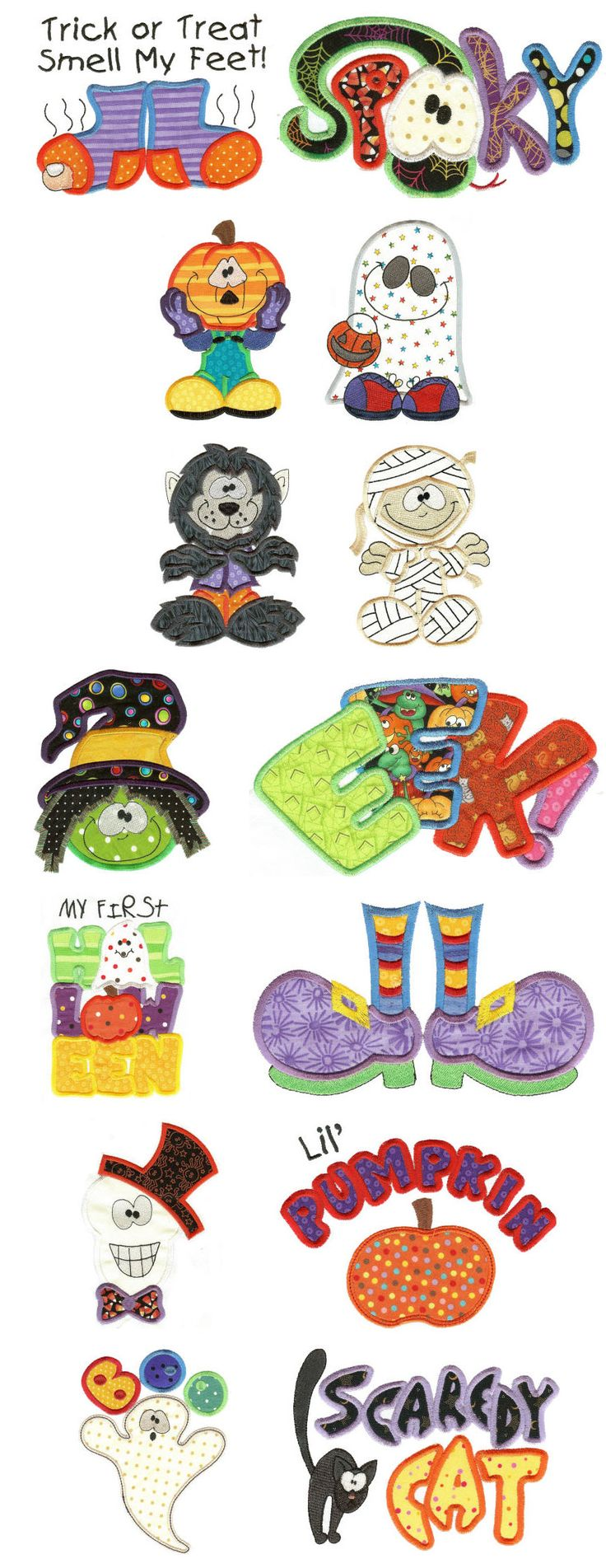 Embroidery | Free Machine Embroidery Designs | Treats n Tricks Halloween Applique Too