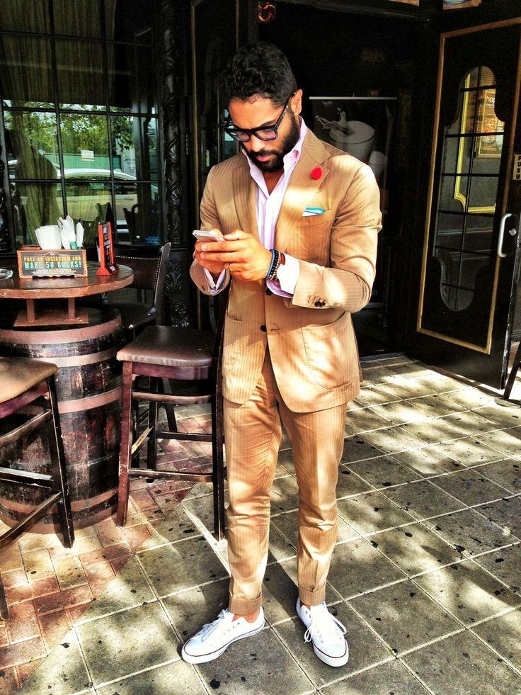 Mr. @ANGEL BESPOKE in Solaro suit +ConverseAll Star