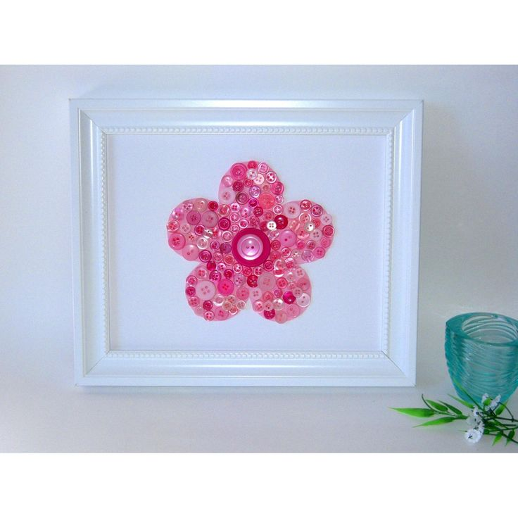 $25.00 Button Pink Flower by MummaWhoMakes on Handmade Australia