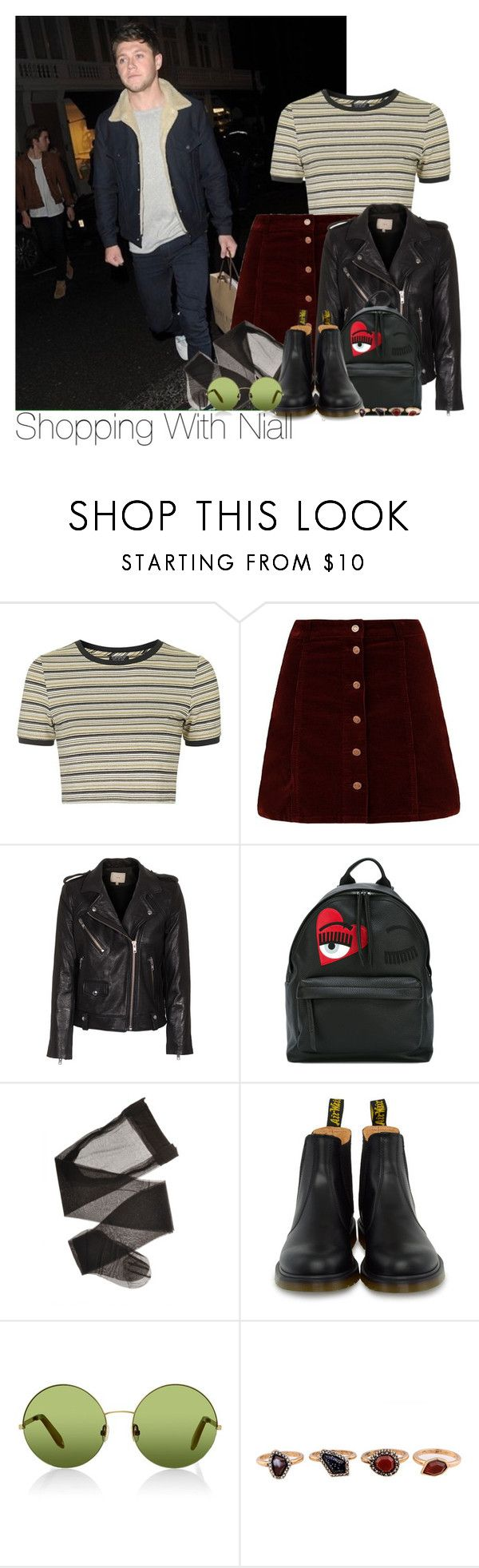"""""""Niall~#67"""" by lauren-beth-owens ❤ liked on Polyvore featuring Topshop, IRO, Chiara Ferragni, Dr. Martens, Victoria, Victoria Beckham, WithChic and NiallHoran"""