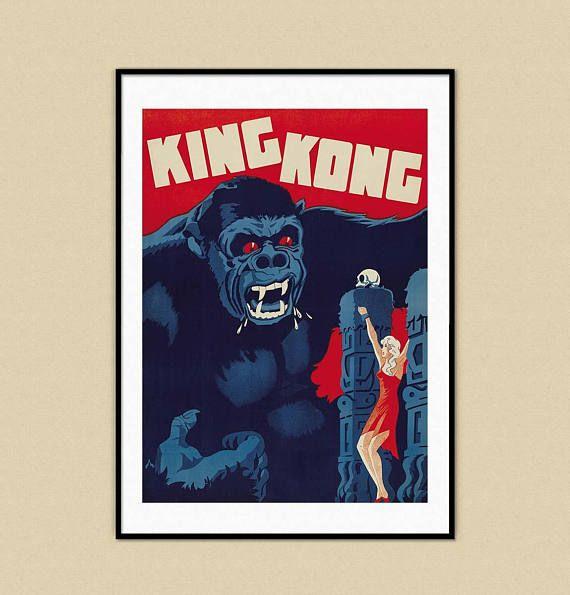 King Kong Retro Vintage Retro Nostalgic Monkey Ape Poster Art