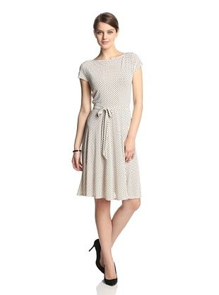 52% OFF Leota Women's Ilana Cap Sleeve Dress (Ivory Dot)
