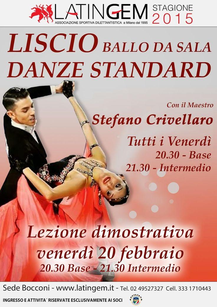 Lezioni dimostrative venerdì 20/02  ore 20:30 Livello Base ore 21:30 Livello Intermedio  *Attività e promozioni riservate ai Soci ** Info: Sede Bocconi, via S. Mansueto, 3 info@latingem.it- Tel. 02 49527327 - Cell. 333 1710443  #liscio   #ballodasala   #standard   #danze   #valzer   #mazurka  #Jive #Samba #SlowFoxTrot #Quickstep   #Viennese #Polka #Tango #Foxtrot #ChaChaCha #Rumba