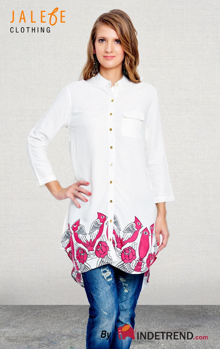 #india #kitsch #bird #clothes #indetrend #jalebeishot #abudabi #pink #white Shop ladies out fits online @ INDETREND.com