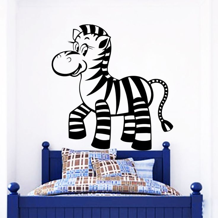 Wall Decals Zebra Wild Animal Home Kids Nursery Room Vinyl Sticker Decor  MR506 #STICKALZ # Part 66