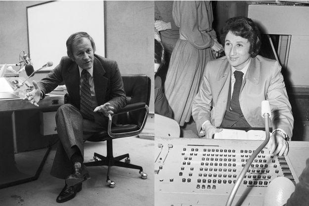 Jacques Chancel en 1975 et Michel Drucker en 1974