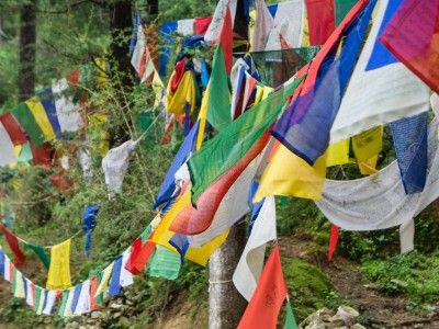 Tibetan prayer flags, McLeod Ganj, Dharamsala, India #india #travel #himachal #tibet #prayer #buddhism #culture #Kamalan