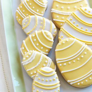 """Egg-cellent"" sugar cookies with royal icing. Sweet and simple."