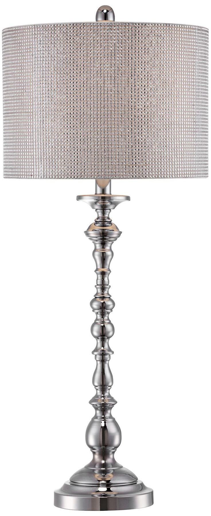 Contemporary Stacked Sphere Chrome Buffet L& with Faux Diamond Shade contemporary table l&s  sc 1 st  Pinterest & 82 best Lighting images on Pinterest | Industrial lighting ... azcodes.com