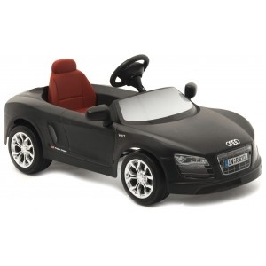 Audi R8 Spyder negro Eléctrico 12V en http://www.tuverano.com/coches-electricos-infantiles/488-audi-r8-spyder-negro-electrico.html
