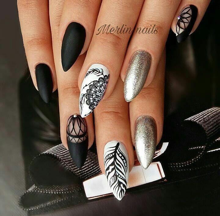 80 Dark Color Nail Designs For Women Pretty Nail Art Designs Pretty Nail Designs Pretty Nail Art