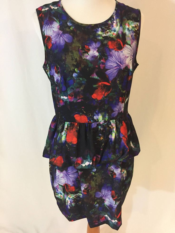 Excited to share the latest addition to my #etsy shop: Purple Floral Dress, women dresses, sleeveless dress,Party dress, prom dress, print dress, by Dorila Clothes http://etsy.me/2i4B2CN #clothing #women #dress #black #christmas #purple #bydorilaclothes #printdress #promdress