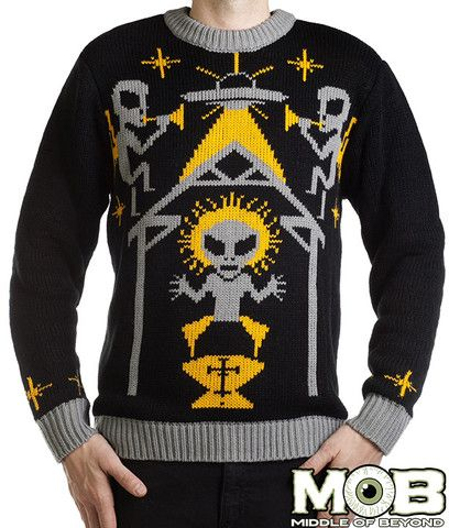 Alien Nativity Christmas Pullover Sweater – Middle of Beyond