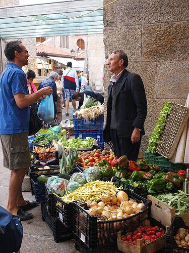 Market in Santiago de Compostela