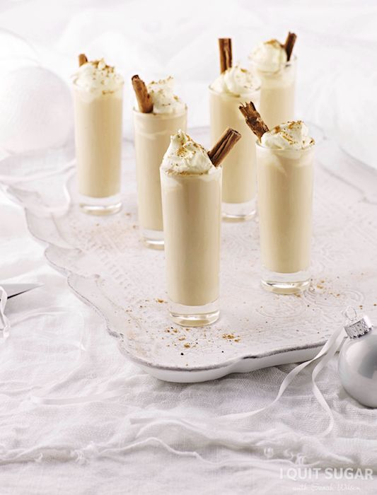Chai Spiced Eggnog Shots recipes in our I Quit Sugar Christmas Cookbook. Available now through the IQS Online Store for $19 – I Quit Sugar