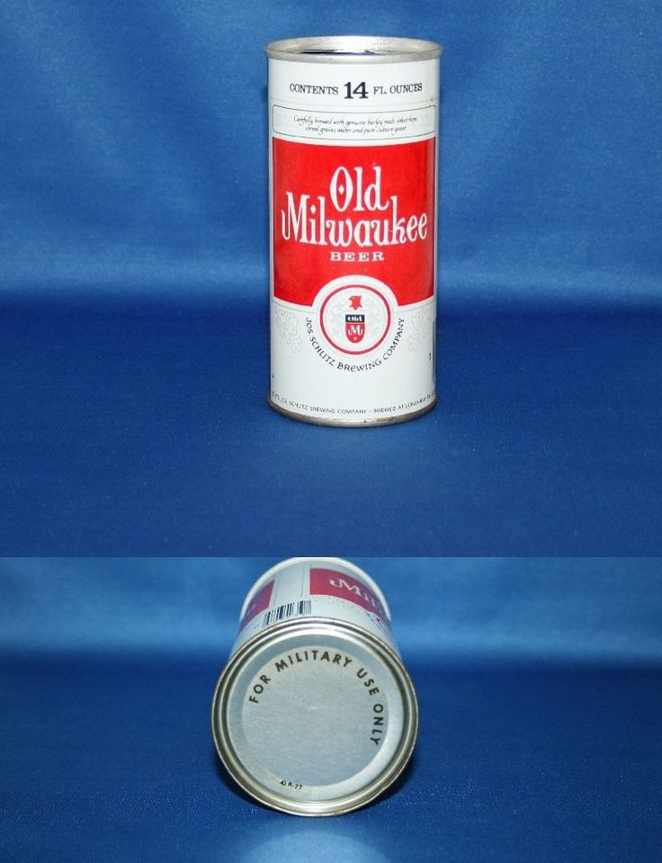 Old Milwaukee Beer Steel Pull Tab Can Schlitz Brewing Co 1975 Military Use Only #OldMilwaukeeBeer