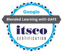 Blended learning is a student-centred approach to instruction that gives the student the ability to control time, place, or pace of the learning. Earn the badge at itsco.org!!