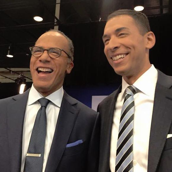 Father Lester Holt with his beloved son Stephan Holt