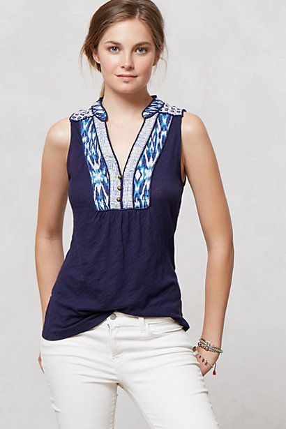 Embroidered Evie Top #anthropologie