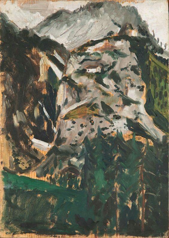 Filippo de Pisis,  Tempo piovoso (Gogna di Cadore) 1924