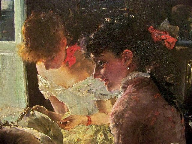 Venetian Lace Makers (detail) Robert Frederick Blum