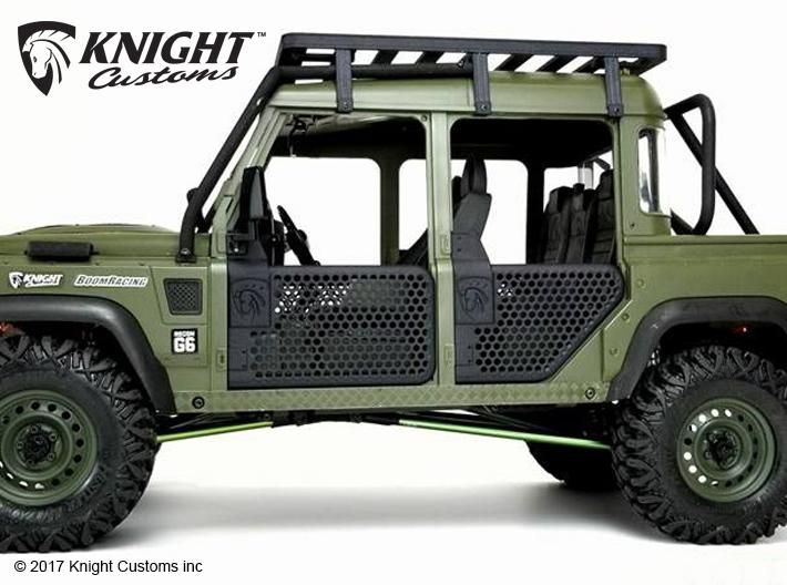 Knight Customs Boom Racing D110 Chassis Defender D110 Tube Doors In Black Strong Flexible Kc Tr20007 Land Rover Defender Land Rover Defender