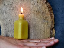 Moonshine - Bottle shaped beeswax candle