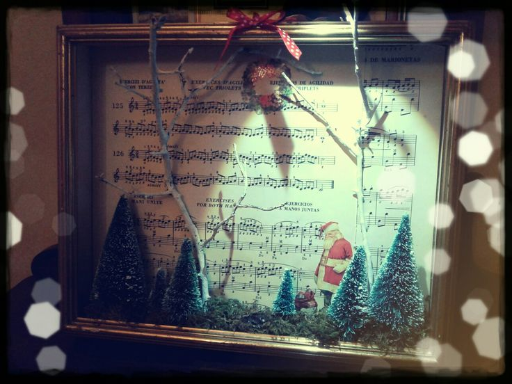 Christmas miniature in a frame (by Erika P.)