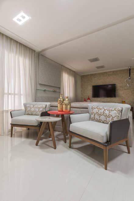 Apartamento São Bernardo do Campo: Salas de estar modernas por Silvana Borzi Design