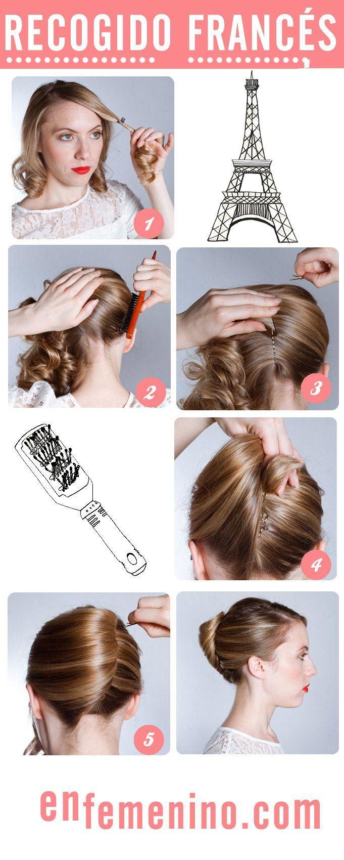 Cómo hacer un recogido francés How to... ? #Hair #Style #Hairstyle