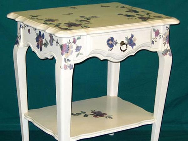 Decoupage su mobili decoupage pinterest mobili colorati mobili e mobili dipinti - Decoupage su mobili in legno ...