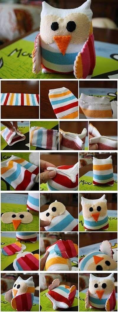 DIY Little Sock Owl DIY Projects | UsefulDIY.com