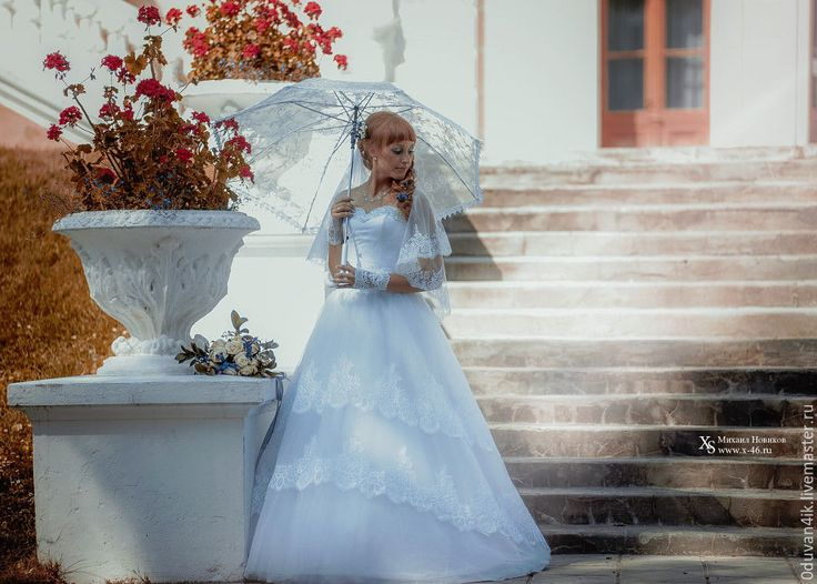 Купить Зонт №10 - белый, свадьба, свадебные аксессуары, зонт, гипюровый зонт, ажурный зонт