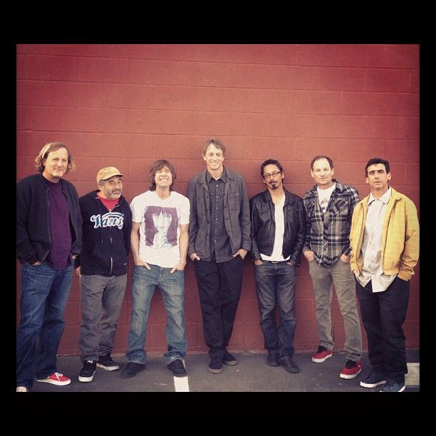 Powell Peralta and the Bones Brigade. These individuals paved the way for skateboarding worldwide, and are still such a great influence and inspiration for many, myself included.  (From left to right: Stacy Peralta, Steve Caballero, Rodney Mullen, Tony Hawk, Tommy Guerrero, Mike McGill, Lance Mountain)