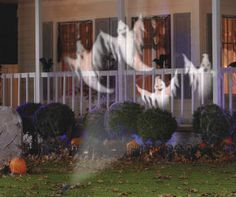 Give your house a ghostly glow with this Halloween LED light projector. Simply place it in the yard and watch ghosts swirl all around your house, garage door and even in the bushes. Perfect for indoor or outdoor use.