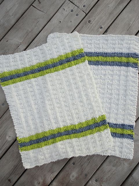 Ravelry: Basket Rib Hand Towel pattern by Traci Heiner