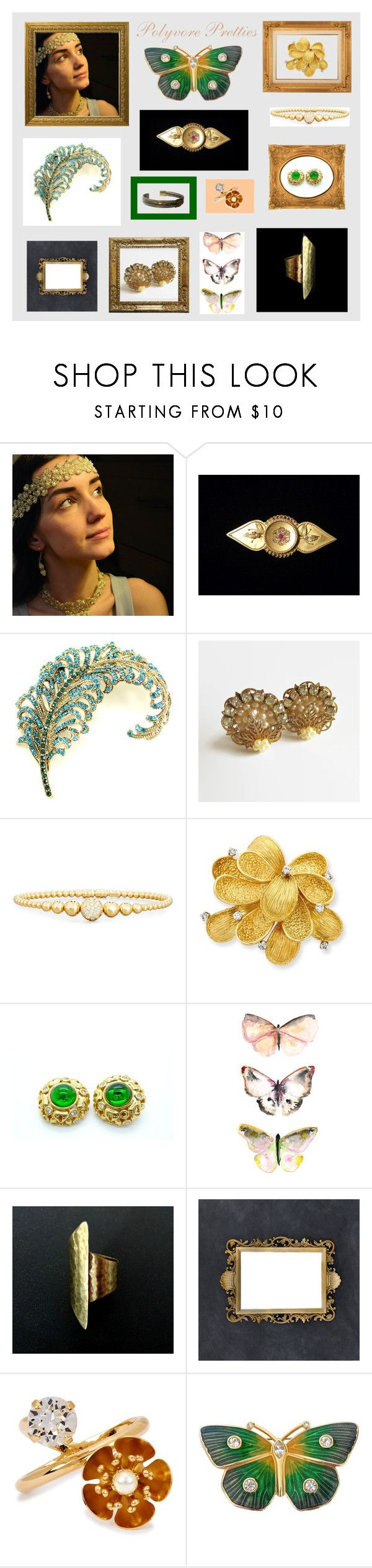 """""""Polyvore Pretties"""" by anna-ragland ❤ liked on Polyvore featuring Rivière, Nina Ricci, CA&LOU, contemporary and vintage"""