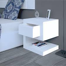 Resultado de imagen para mesas de noche modernas blancas