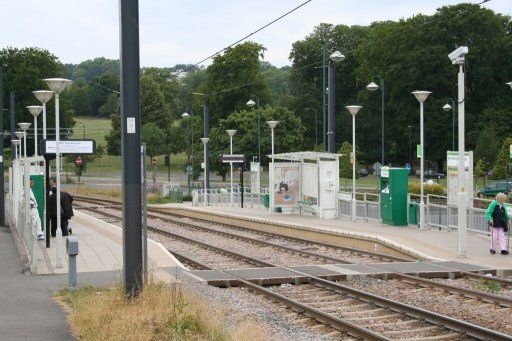 Croydon Tramlink tram stop at Addington Village