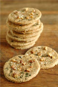 Crackers Avoine, Noix, Huile d'Olive, Thym & Fleur de Sel …