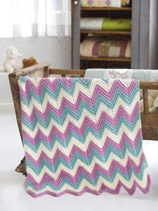 crochet Zig Zag Baby Blanket free pattern