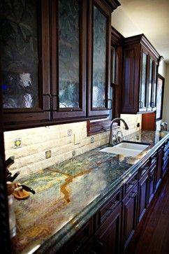 Blue Louise Granite Kitchen Counter Top traditional kitchen