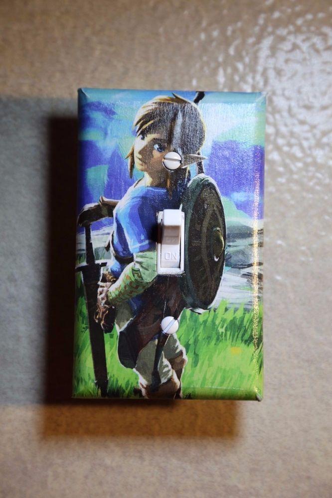 Legend of Zelda Breath of Wild Video Game Light Switch gamer room decor nintendo –  – #GamerRoom|DIY