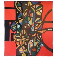Large Modern Tapestry by Genaro de Carvalho   From a unique collection of antique and modern tapestries at https://www.1stdibs.com/furniture/wall-decorations/tapestry/