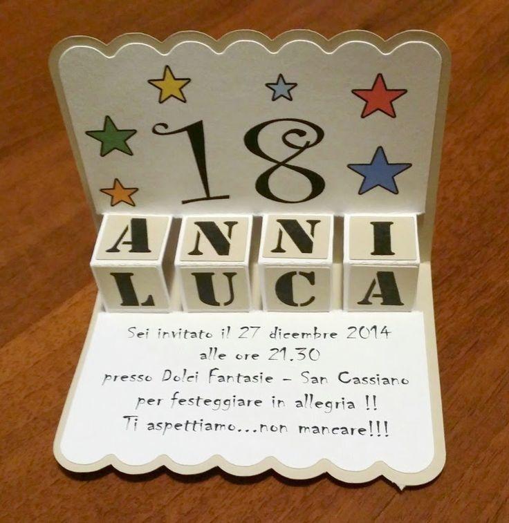 .: Biglietti d'invito per festa 18 anni