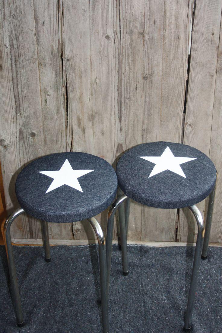 Krukjes met ster, gemaakt van spijkerstof