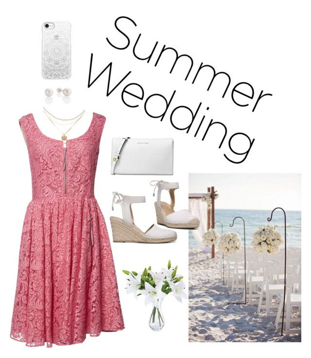 """""""wedding guest"""" by mxi3322 ❤ liked on Polyvore featuring Casetify, Prada, Michael Kors and Franco Sarto"""