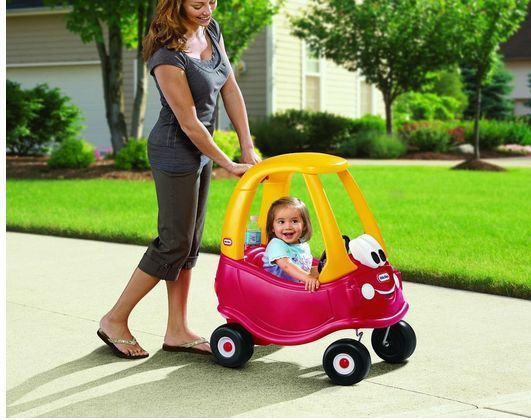 Little Tikes Push Ride-On Cozy Coupe Car Toy Storage High Seat Back Toddlers Out