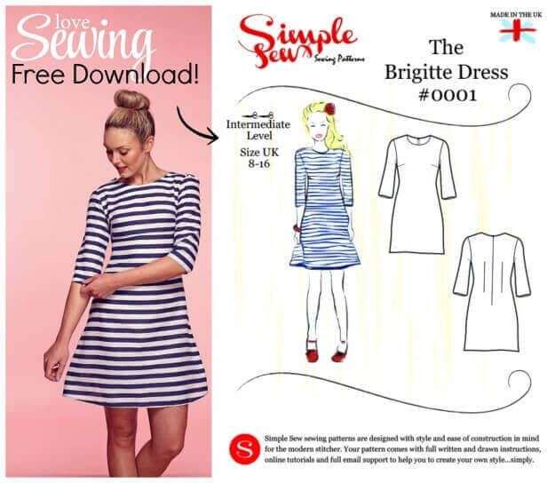 Kostenloses Schnittmuster Kleid zum Ausdrucken - PDF Freebook - Damenkleid