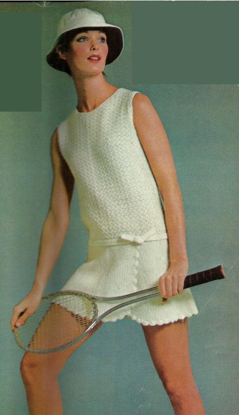 Would wear this present day, any day, adorbs chic....Tennis fashion